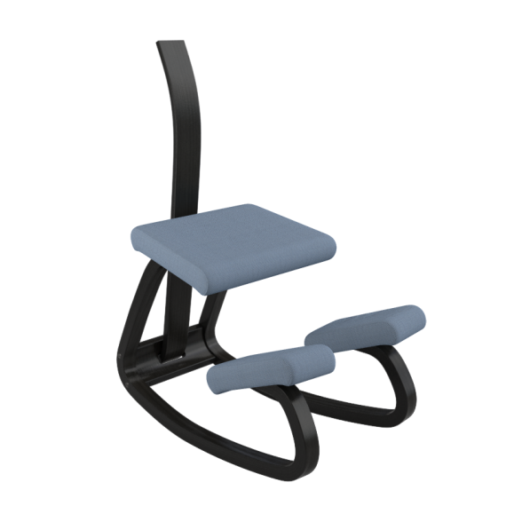 Varier Variable with Backrest in Black Ash and BF4602 Front-side
