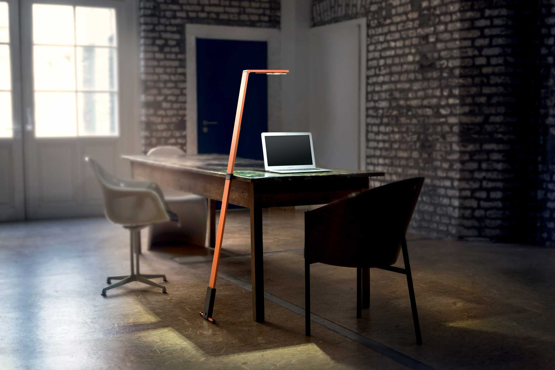 Luctra flex portable LED lamp orange