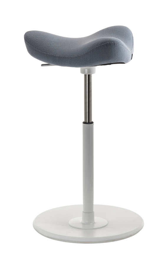 Varier Move White Blue Saddle Stool