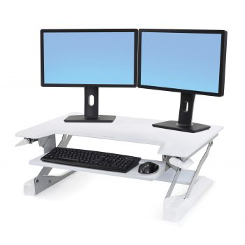 Erogtron Workfit T 33-397-062 White Dual Monitor